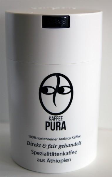 Coffeevac 500g weiß, mit Kaffee Pura Logo