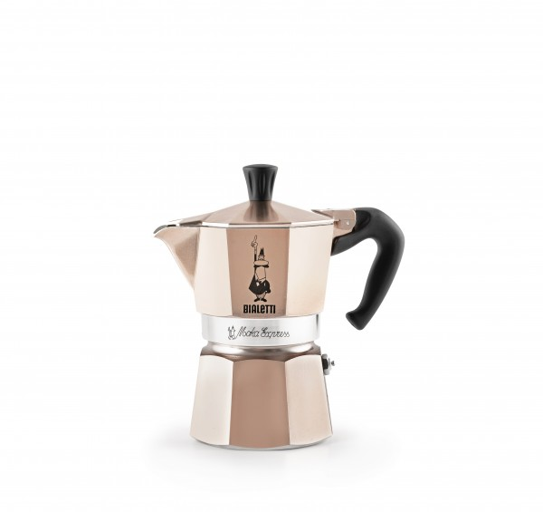 Espressokocher Moka Express Aluminium Rosé Gold - Limited Edition