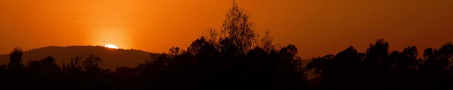 Sonnenuntergang in Äthiopien