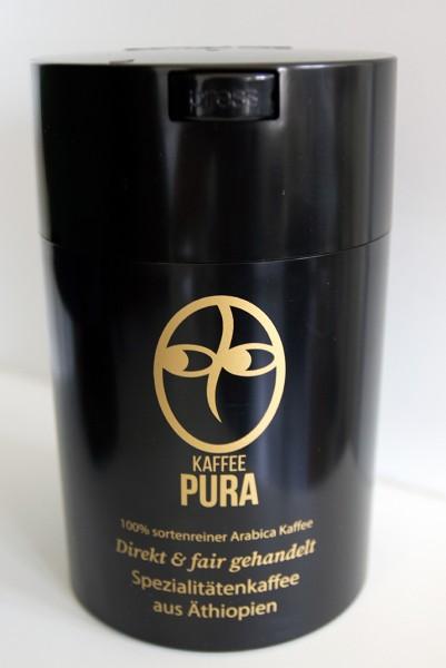 Coffeevac 500g schwarz, mit Kaffee Pura Logo